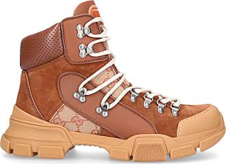 ffdc67bbe782a Gucci Sneaker high FLASHTRECK Canvas Kalbsleder Veloursleder Logo beige