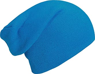 DonDon winter hat slouch beanie warm classical design modern and soft light blue