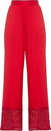 NICA KESSLER Calça Pantalona Barrado nica Kessler - vermelho