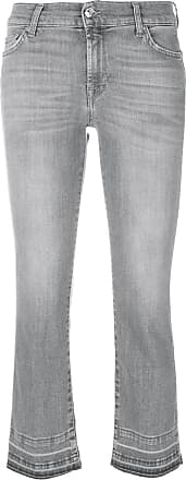 7 For All Mankind Calça jeans cropped - Cinza