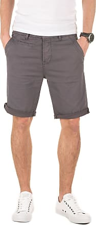 Yazubi Mens Summer Chino Shorts Slim Travis Casual, Grey (11903), W30