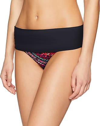 Pour Moi? Womens Odyssey Fold Over Brief Bikini Bottoms, Multicolor (Volcano), 14