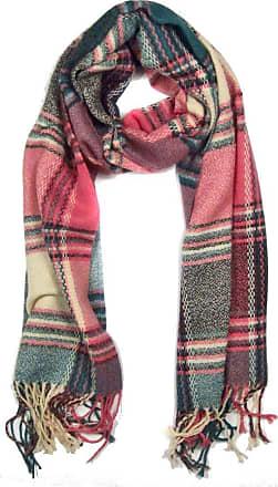 Your Dezire Womens Ladies Vintage Wraps scarf scarves Elegant Tartan Plaid scarf Shawl (Pink/Green)