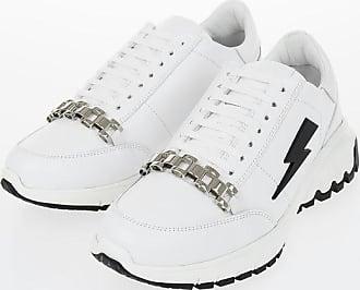 Neil Barrett Leather METAL RUNNER Sneakers size 43