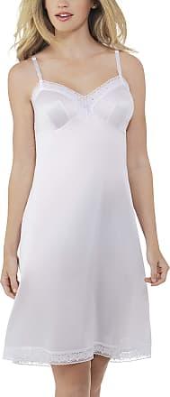 Vanity Fair Womens Rosette Lace Full Slip 10103 Star White, 44 Bust (24 Length)