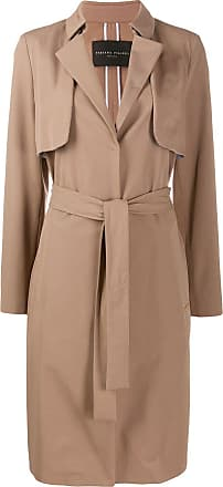 Fabiana Filippi belted mid-length coat - Brown