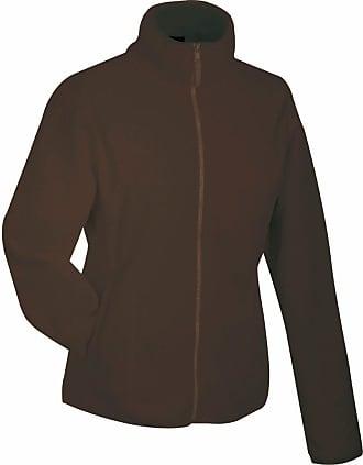 James & Nicholson JN049 Womens Girly Micro Fleece Full Zip Jacket Brown Size XL