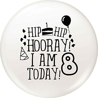 Flox Creative 77mm Pin Badge I am Eight Today Today