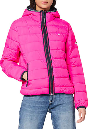 Tommy Jeans Womens TJW Quilted Tape Detail Jacket, Pink (Pink Tz7), 10 (Size:M)