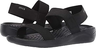 Crocs LiteRide Sandal (Black/Black) Womens Shoes