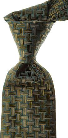 Isaia Ties On Sale, Dark Green, Silk, 2017, one size