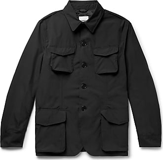 Aspesi Slim-fit Waterproof Nylon Field Jacket - Black