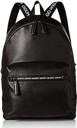 6cf1f03e5a HUGO BOSS HUGO by Hugo Boss Mens National Soft Leather Backpack, black ONE  SIZE