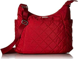 Baggallini Quilted hobo Tote with RFID, red