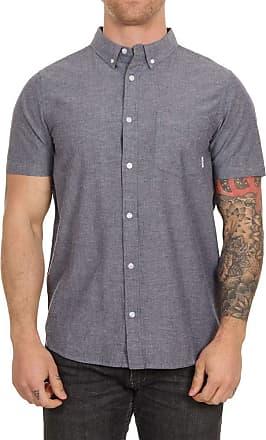 Element Greene Neps Short Sleeve Shirt Large Navy