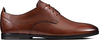 Clarks Otoro Lo Leather Shoes in Tan Standard Fit Size 9.5