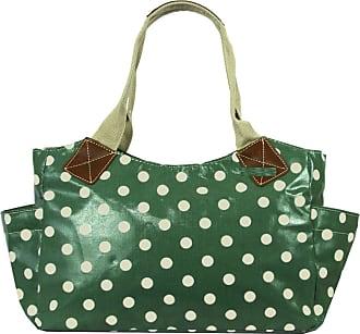 GFM Oilcloth Tote Shopper Day Bag Polka Dot (X01-TLHR)