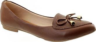 Arzon Sapatilha de Couro Bico Fino Chocolate - Chocolate - 36