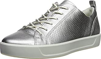 Ecco Womens Womens Soft 8 Perforated Tie Sneaker, alusilver, 35 M EU (4-4.5 US)