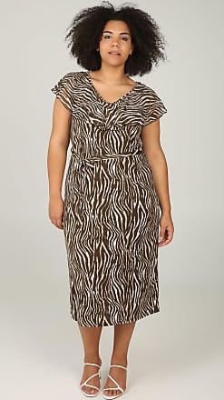 32c2f274096cf5 Paprika VANAF MAAT 42  Lange jurk met zebraprint