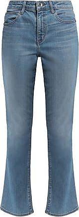 Helmut Lang Helmut Lang Woman Distressed Mid-rise Flared Jeans Light Denim Size 27