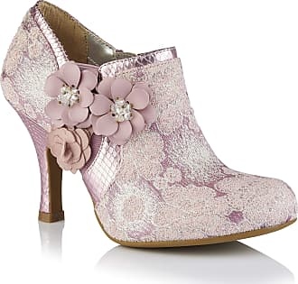 Ruby Shoo Womens Lilac Electra Brocade Jewelled Bootie UK 9