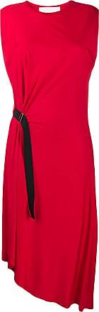 8pm buckle detail midi dress - Red