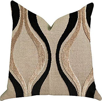 Plutus Brands Misty Belvedere Double Sided Luxury Throw Pillow 22 x 22 Black/Brown
