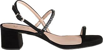 Unisa sandalo tacco basso grosso, 38 / nero