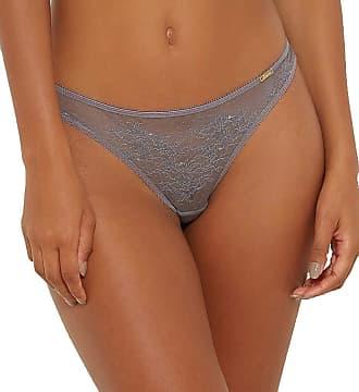 Gossard Womens Glossies Lace Thong G-String Panties, Platinum, Medium