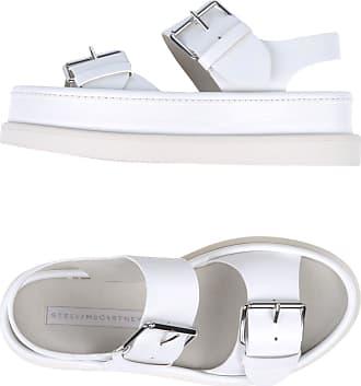 Stella Mccartney Wit & Zwart Platform Velcro Platte sandalen