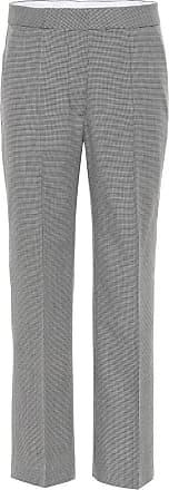 Stella McCartney Cropped wool straight-leg pants