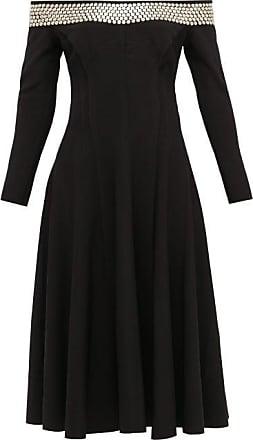 Norma Kamali Grace Studded Off-the-shoulder Jersey Dress - Womens - Black
