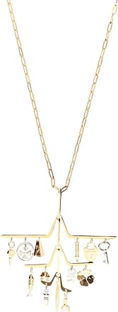 Lanvin Necklace With Detachable Charm Womens Gold