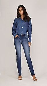 Lebôh Calça Straight Cos Intermediario Reserva Lateral Jeans 44