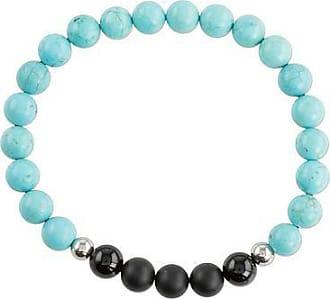 Novica Mens agate beaded stretch bracelet, Soft