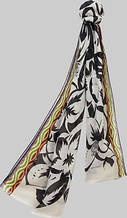 Etro Hawaii Floral Print Scarf, Man, Black