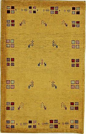 Nain Trading 138x90 Tappeto Orientale Persia Gabbeh Loribaft Marrone/Giallo (Lana, Persia/Iran, Annodato a mano)