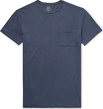 J.crew Slim-fit Garment-dyed Slub Cotton-jersey T-shirt - Navy