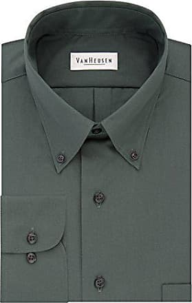 Van Heusen Mens Dress Shirts Regular Fit Silky Poplin Solid, Bayleaf, 3X-Large