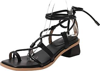 Mediffen Flip Flops Women Clip Toe Block Heels Mule Slippers Slip On Mid Heels Slides Sandals Summer Outdoor Slippers Black Size 40 Asian