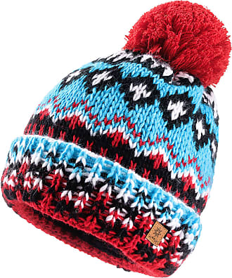 morefaz Women Men Indians Style Worm Winter Beanie Hat Knitted Fleece Lining Pom Pom Ski Hats (Design 11)