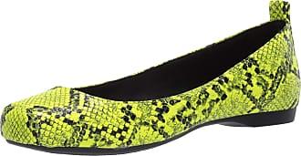 Jessica Simpson Womens Mickella Ballet Flat, Neon Yellow Python, 6.5 UK
