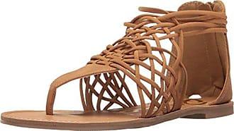 Qupid Womens Athena-1126a Huarache Sandal, Tan Distress Nubuck, 5.5 M US