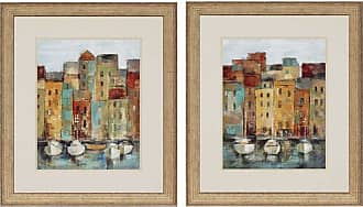 Paragon Picture Gallery Old Town Port Framed Wall Art - Set of 2 - 3628