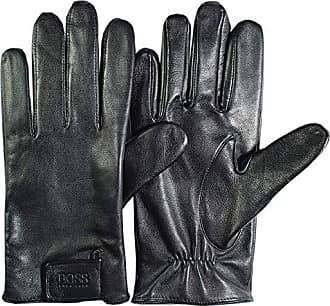Black HUGO BOSS Herren Lederhandschuhe Kranton2