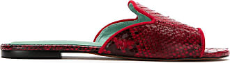 Blue Bird Shoes Mule Exótico de couro python - Vermelho