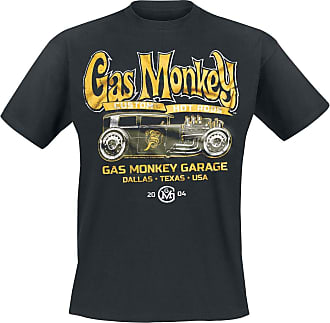 Gas Monkey Garage Green Hot Rod T-Shirt Black XXL