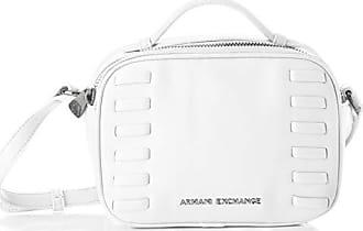 A|X Armani Exchange Womens Top Handle Small Crossbody Bag, bianco - white 4