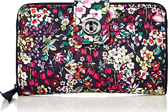 Vera Bradley Womens Signature Cotton RFID Turnlock Wallet, Itsy Ditsy, One size